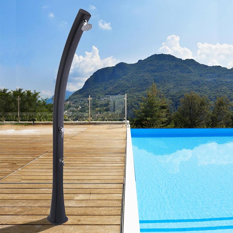 Ducha solar barata y ecológica para piscina y jardín